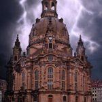 dd frauenkirche im Gewitter